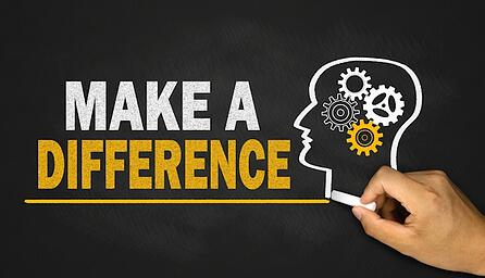 make a difference concept on blackboard