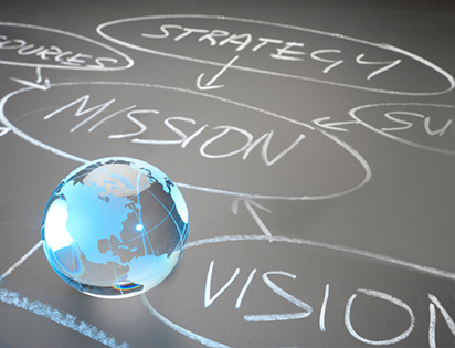 Global mission flow chart concept