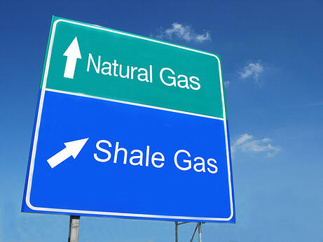 Natural Gas - Shale Gas road sign