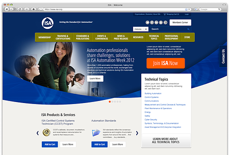 New ISA website home page