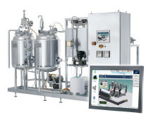 Figure 3. The embedded human-machine interface installed on this process skid can be used to display both real-time and historical energy use.