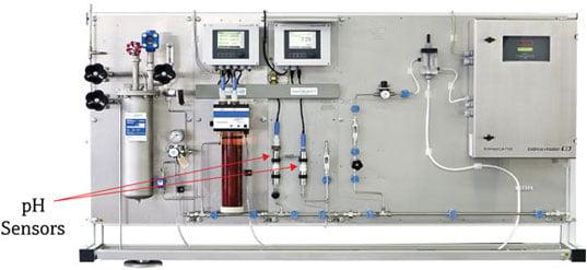 Figure 5. pH sensor installation in prefabricated panel